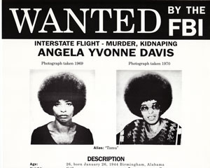 l'affiche wanted Angela Davis du FBI