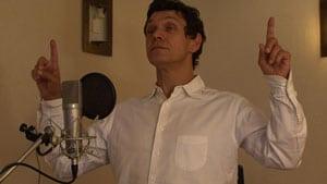 Marc Lavoine enregistrant la voix du père