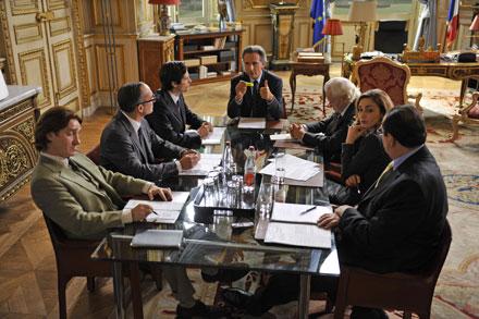 Réunion de cabinet dans Quai d'Orsay