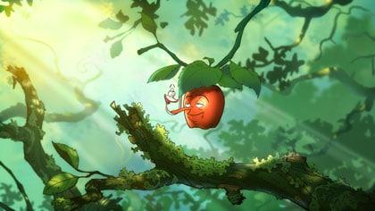 Une pomme et son ver dans un arbre, Torben et Sylvia