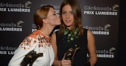 lea-seydoux-et-adele-exarchopoulos sacréees aux prix Lumières 2013