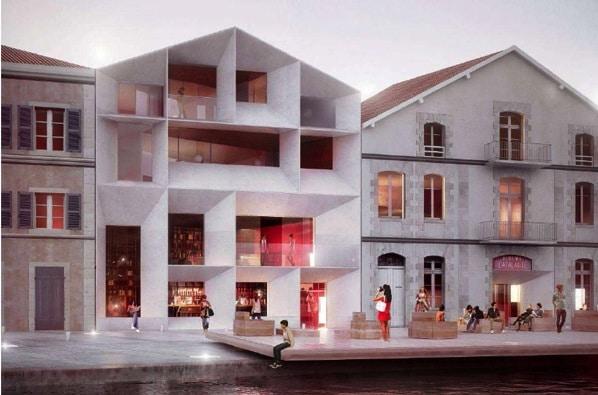 La nouvelle Atalante projet de facade