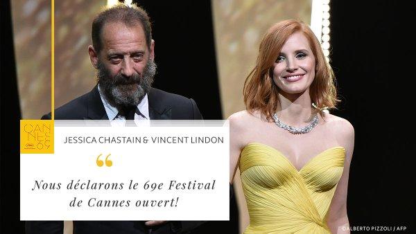 Cérémonie d'ouverture du 69e Festival de Cannes