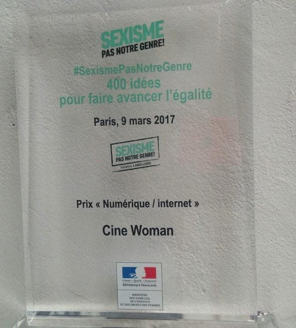 prix internet/numérique - Cine-Woman