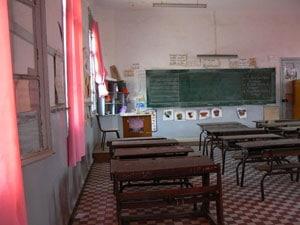 une photo de la classe qui a inspiré celle du dessin animé