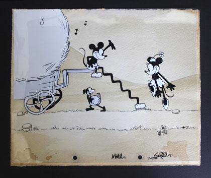 Mickey à cheval, le court-métrage qui introduit la Reine des neiges