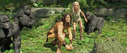 Tarzan et Jane, en blonde, et en 3D