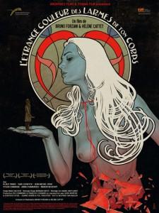 L'affiche Art nouveau de l'étrange couleur des larmes de ton corps