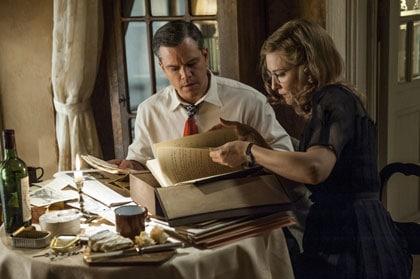 """Matt Damon et Cate Blanchett, feuilletant le """"catalogue"""""""