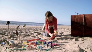 Lou-Lélia Demerliac sur la plage du Porge