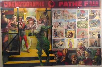 Affiche Pathé du début du XXe siècle