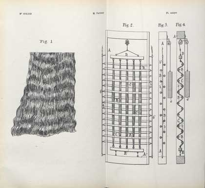 Le brevet d'invention de l'étoffe plissée-ondulée