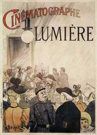 Une affiche de projection Lumière en 1896