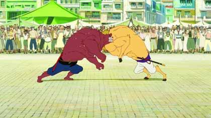 Le garçon et la bête, combat