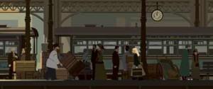 Sacha à la gare