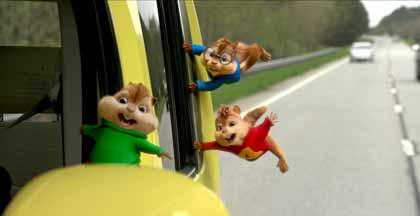 Les 3 chipmunks en road-trip dans Alvin et les Chipmunks - à fond la caisse