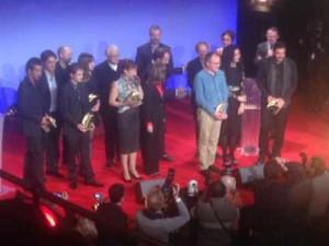 Les Lauréats des 21e Prix Lumières sur la scène de l'Espace Cardin