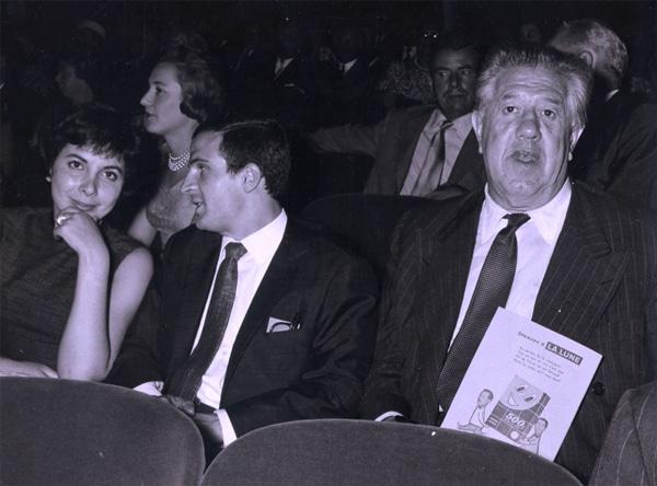 Madeleine Morgenstern avec Francois Truffaut et Michel Simon